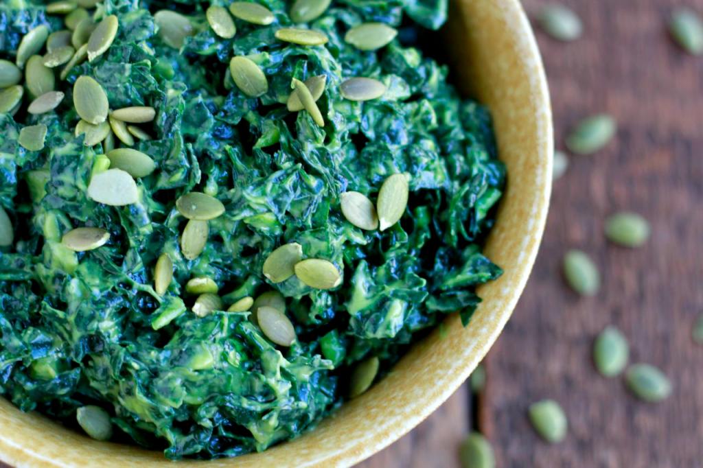 kale salad, massaged