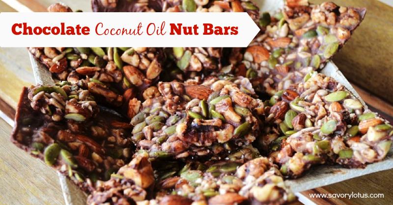 coconut oil, nut bars, chocolate