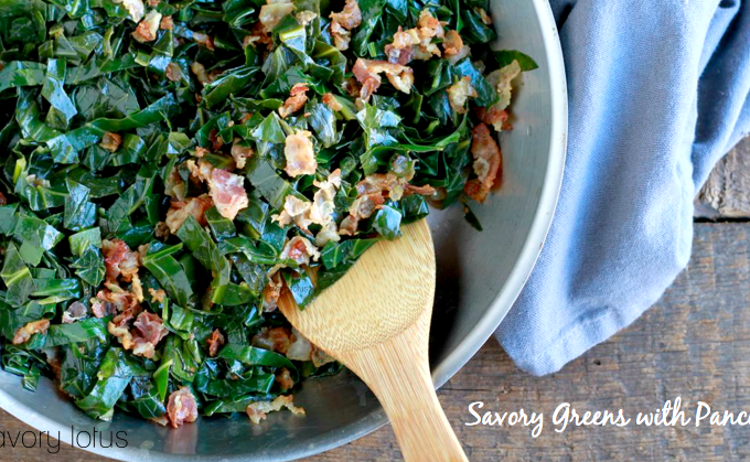 Savory Greens with Pancetta