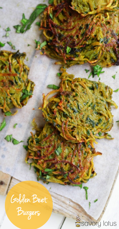 golden beets, beet recipes, beet burgers, grain free