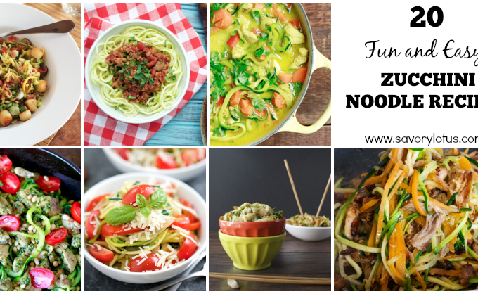20 Fun and Easy Zucchini Noodle Recipes