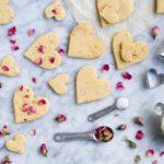 Rose Shortbread Cookies (grain free)   www.savorylotus.com