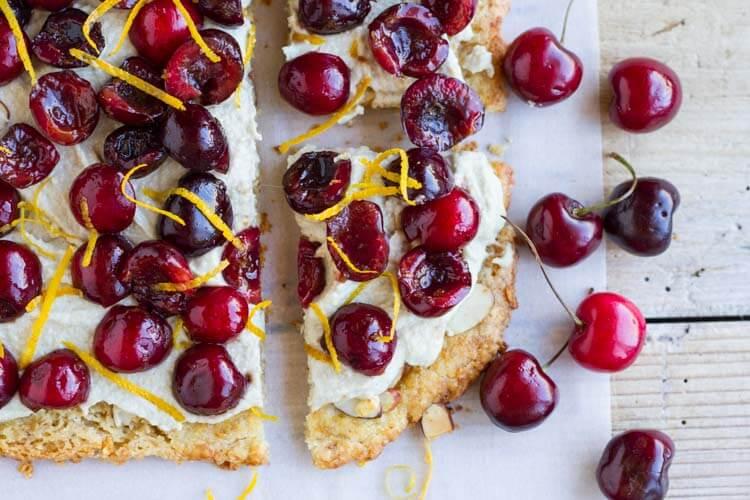 Simple Cherry Tart (gluten free) ||| www.savorylotus.com