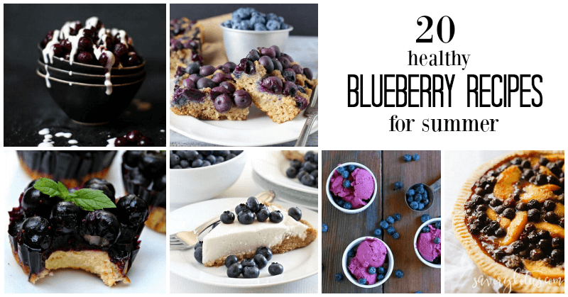 20 Healthy Blueberry Recipe for Summer | www.savorylotus.com