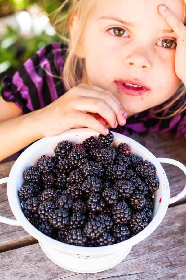 Simple Blackberry Peach Crisp (gluten free) ~ www.savorylotus.com