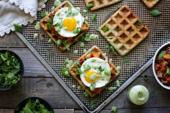 Savory Waffle Sandwich (grain free, nut free, dairy free)