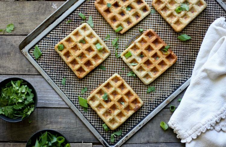 Savory Waffle Sandwich (grain free, nut free, dairy free) \\ www.savorylotus.com