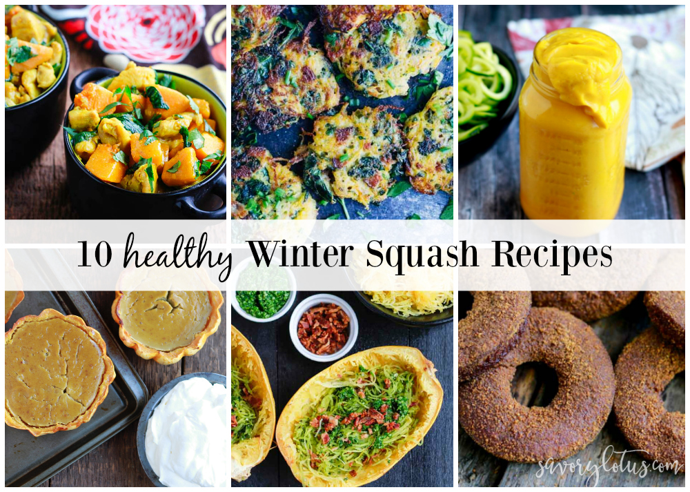 10 Healthy Winter Squash Recipes   www.savorylotus.com