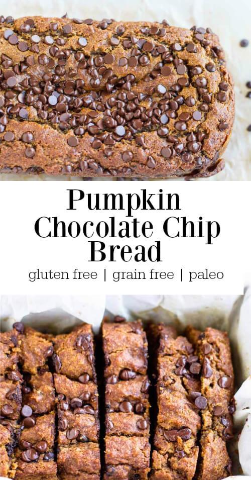 Pumpkin Chocolate Chip Bread (gluten free and paleo) - www.savorylotus.com