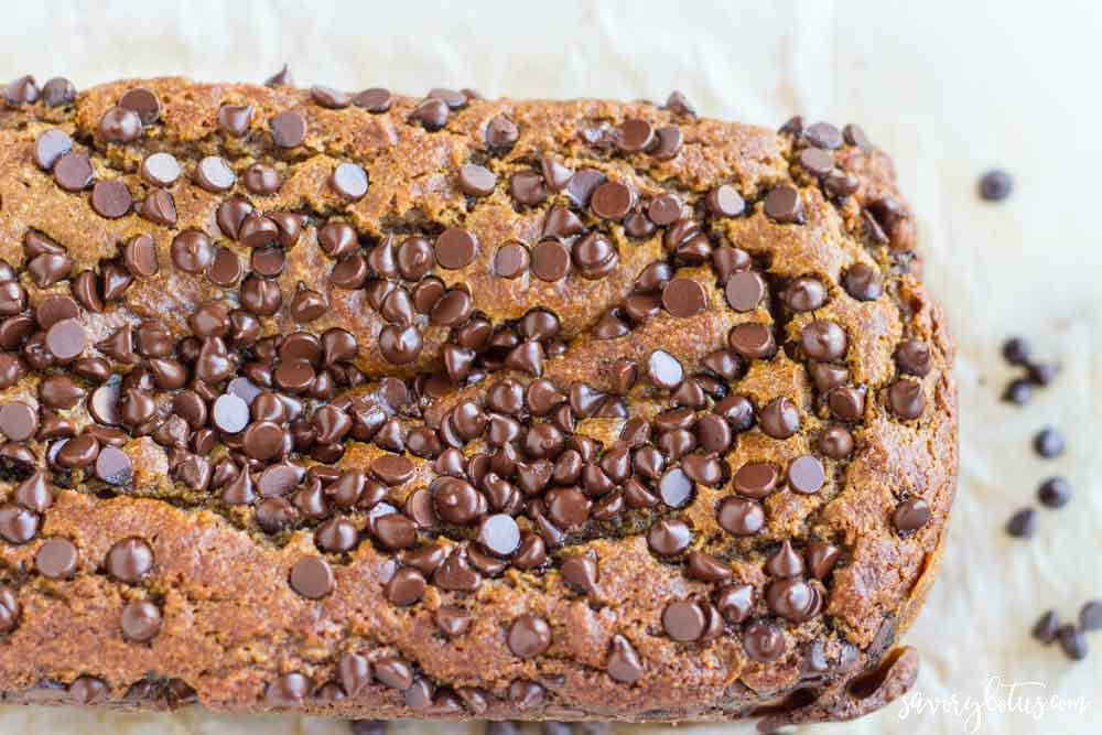 Pumpkin Chocolate Chip Bread (gluten free) | www.savorylotus.com