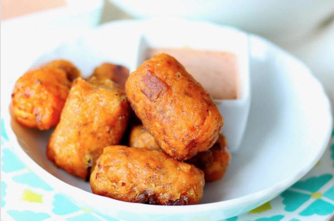 Sweet Potato Bacon Tots (gluten free and paleo)