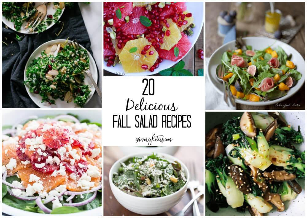 20 Delicious Fall Salad Recipes   www.savorylotus.com