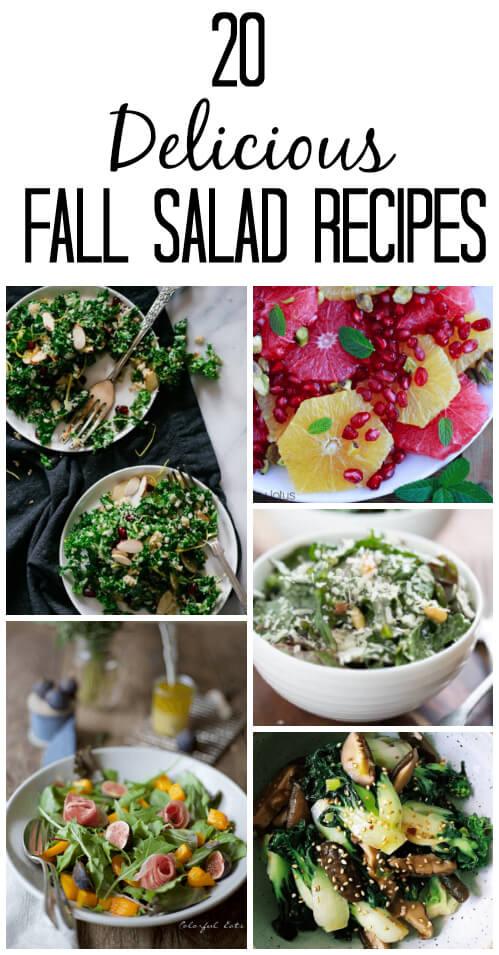 20 Delicious Fall Salad Recipes - www.savorylotus.com