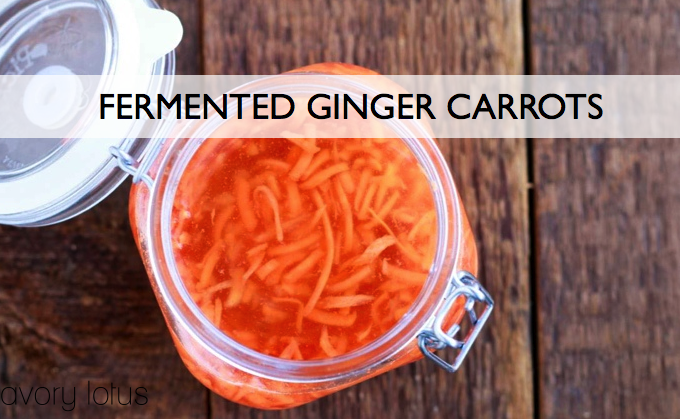 Fermented Ginger Carrots
