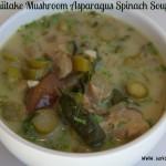 Shiitaki Mushroom Asparagus Spinach Soup