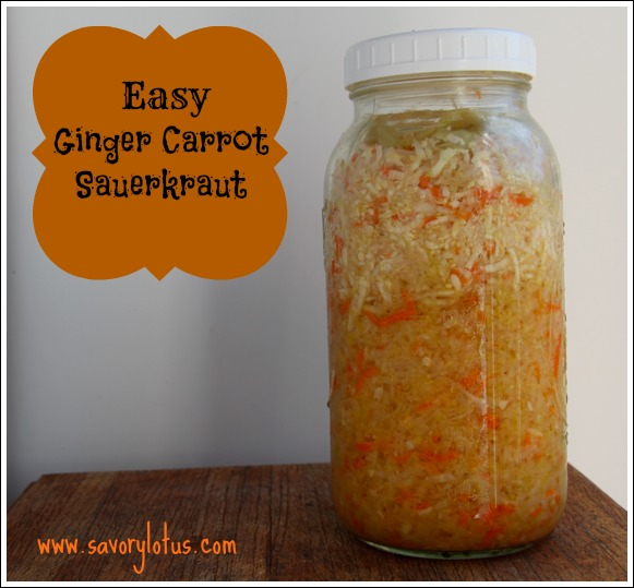 Easy Homemade Ginger Carrot Sauerkraut