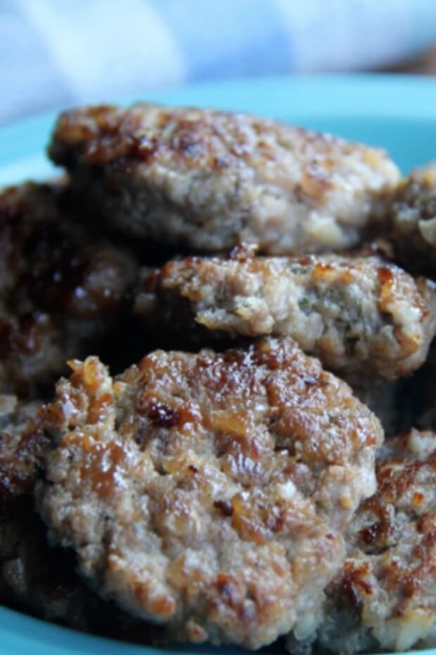 breakfast sausage close up
