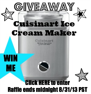 GIVEAWAY: Cuisinart Ice Cream Maker ($80 value)