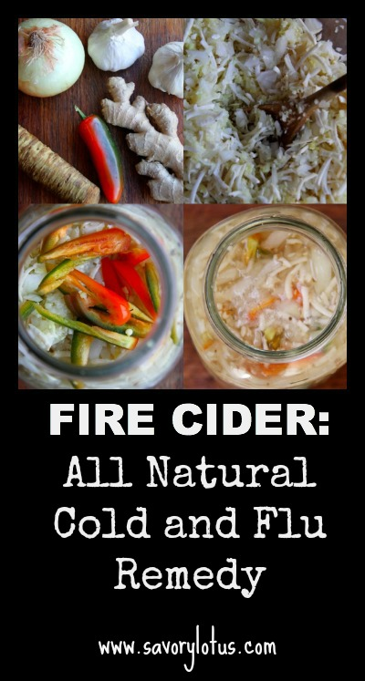 Fire Cider (all natural cold and flu remedy) ~ savorylotus.com