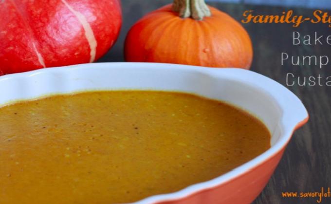 Family-Style Baked Pumpkin Custard (dairy free)