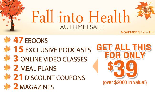 HUGE SALE: Fall into Health Bundle On Sale for One Week Only!!!