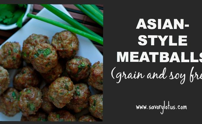 Asian-Style Meatballs (grain and soy free) savorylotus.com