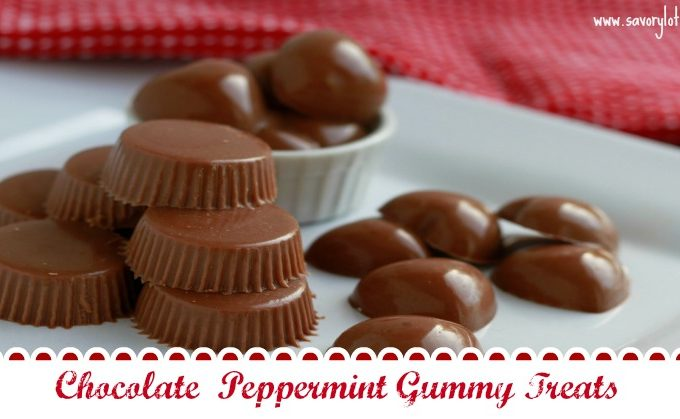 Chocolate Peppermint Gummy Treats