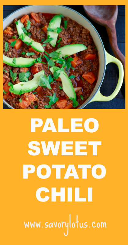Paleo Sweet Potato Chili - savorylotus.coma