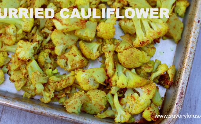 Curried Cauliflower savorylotus.com