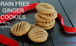 Grain Free Ginger Cookies (nut, dairy, and egg free) - savorylotus