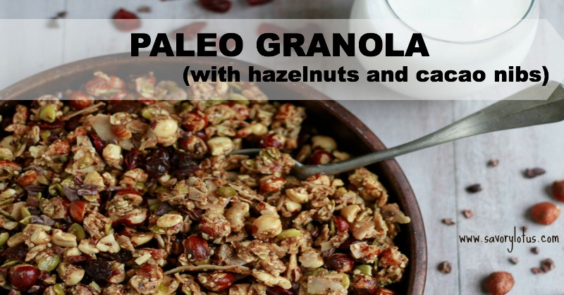 Paleo Granola (with hazelnuts and cacao nibs)