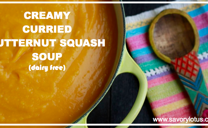 Creamy Curried Butternut Squash Soup (dairy free)