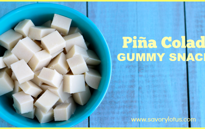 Piña Colada Gummy Snacks