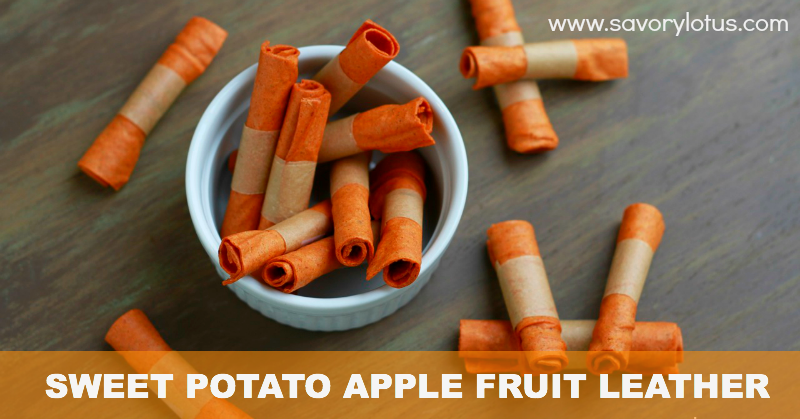 Spiced Sweet Potato Apple Fruit Leather