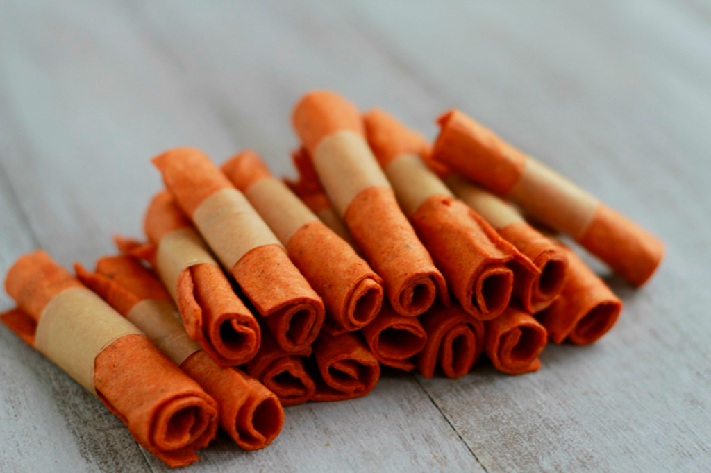 Spiced Sweet Potato Apple Fruit Leather ~ savorylotus