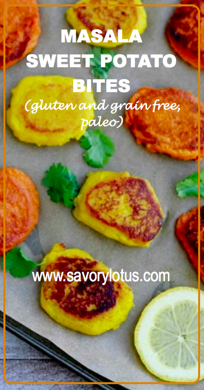 Masala Sweet Potato Bites (gluten and grain free, paleo) - savorylotus.com.
