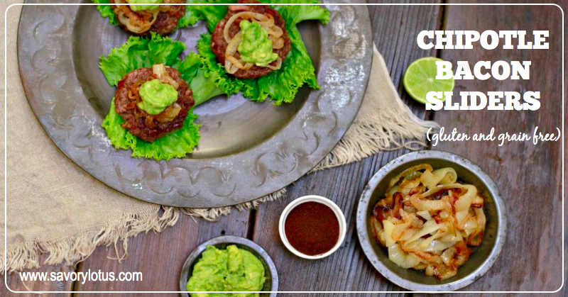 Chipotle Bacon Sliders (gluten and grain free) | savorylotus.coms