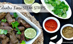 Cilantro Lime Steak Strips savorylotus.com