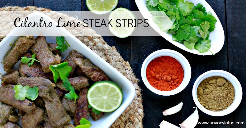 Cilantro Lime Steak Strips