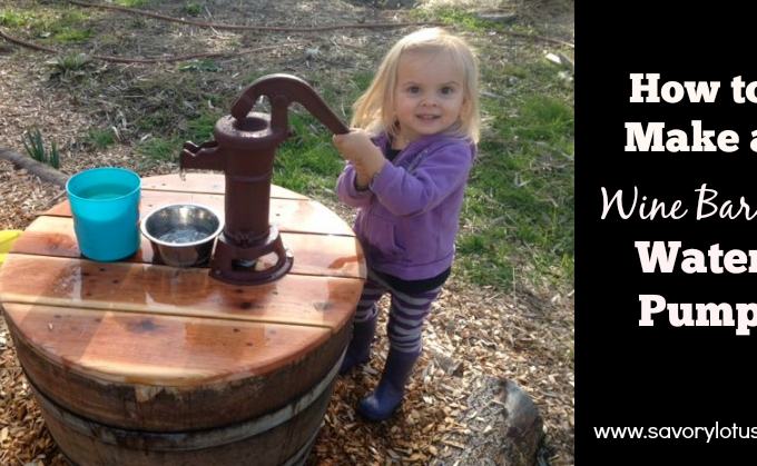 How to Make a Wine Barrel Water Pump