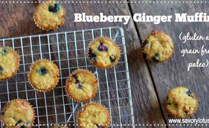 Blueberry Ginger Muffins (gluten and grain free, paleo)