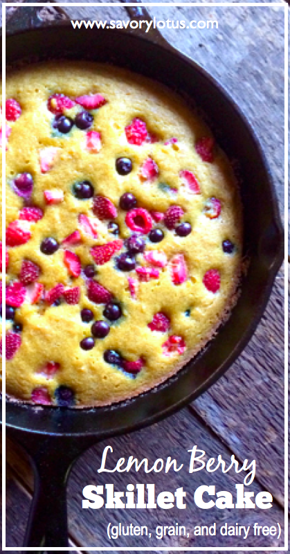 Lemon Berry Cake (gluten, grain, and dairy free) - savorylotus.com