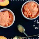 2 Ingredient Peach Ice Cream (dairy free, paleo) savorylotus.com