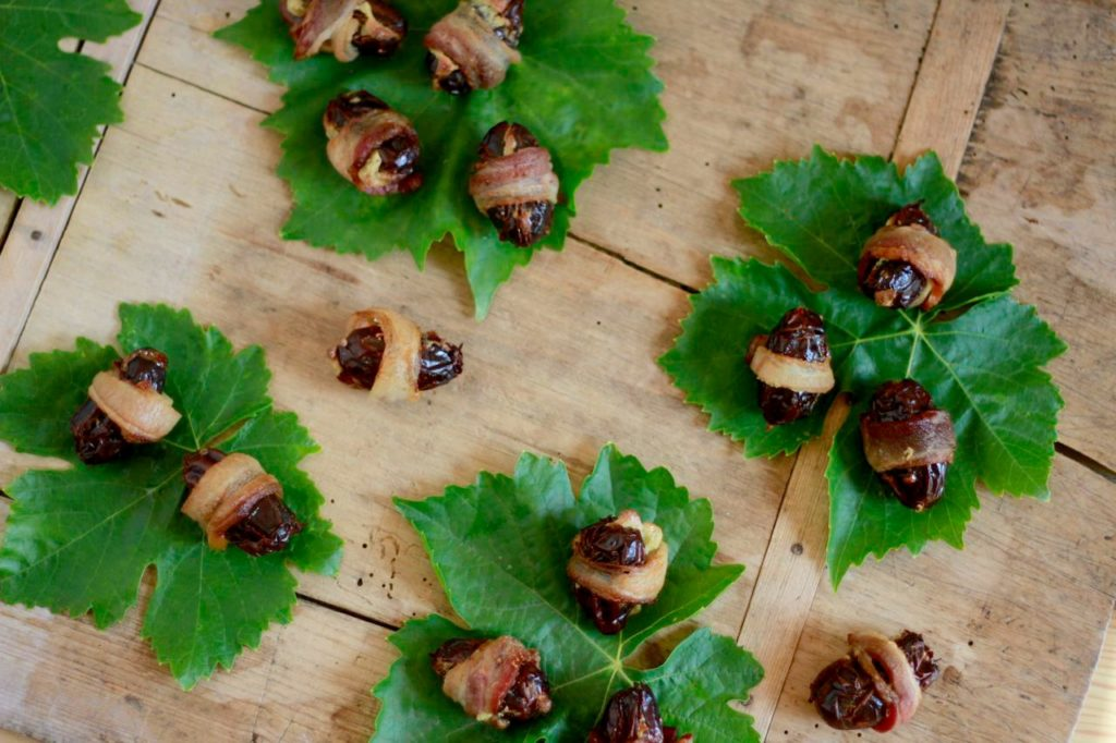 Creamy Bacon-Wrapped Dates (dairy free/ paleo) ~ savorylotus.com