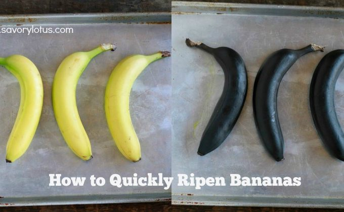 How to Quickly Ripen Bananas || savorylotus.com