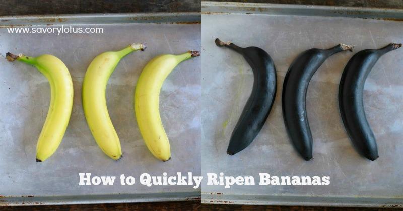 How to Quickly Ripen Bananas || savorylotus.com