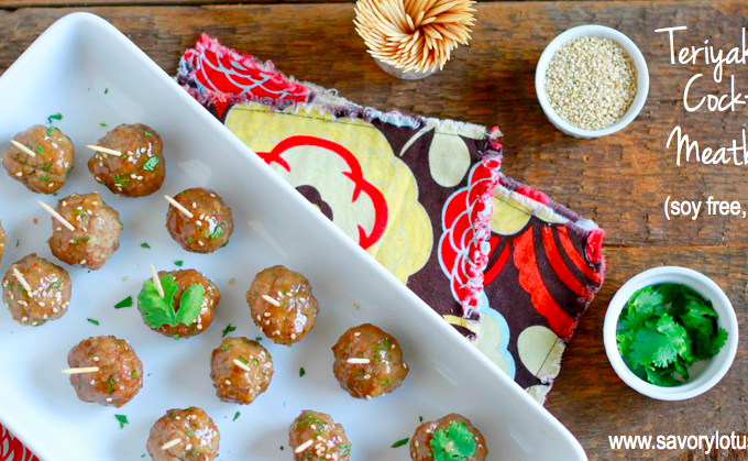 Teriyaki Cocktail Meatballs (grain and soy free)