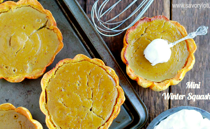 Mini Winter Squash Pies