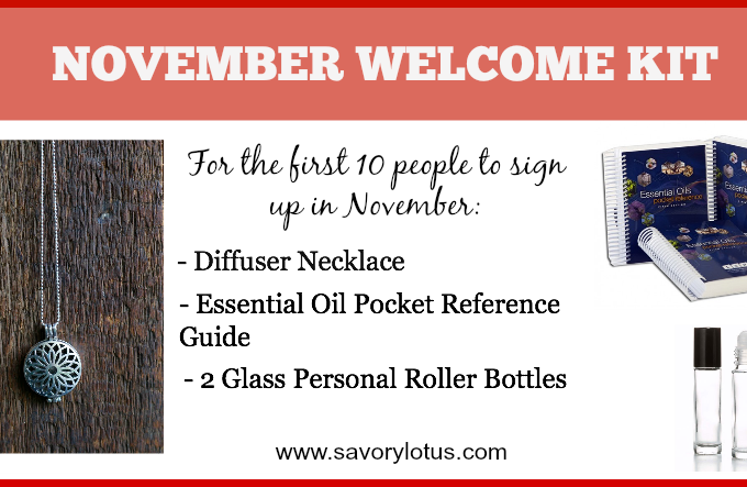 November Special:  FREE Essential Oil Welcome Kit