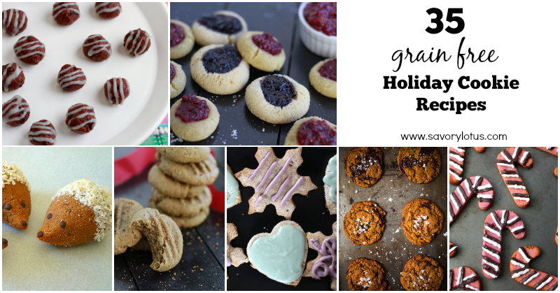 grain free cookies, holiday cookies, paleo, gluten free